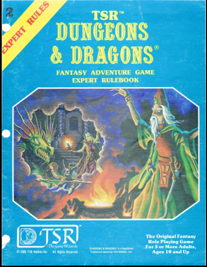 D&D Expert Set 1st Edition Rulebook