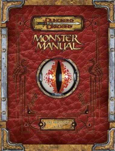D&D Monster Manual 3.5 Edition Reprint with Errata
