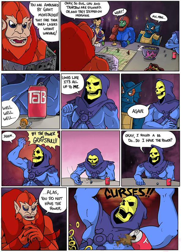 """Should've tried """"By the power of Yellowskull!"""""""
