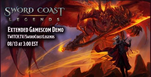 Sword Coast Legends twitch broadcast splash screen