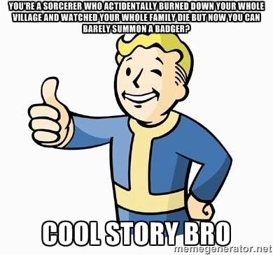 D&D cool story bro vault boy meme