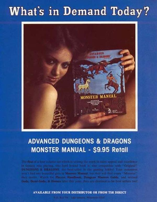 D&D Elsie Gygax modeling Monster Manual