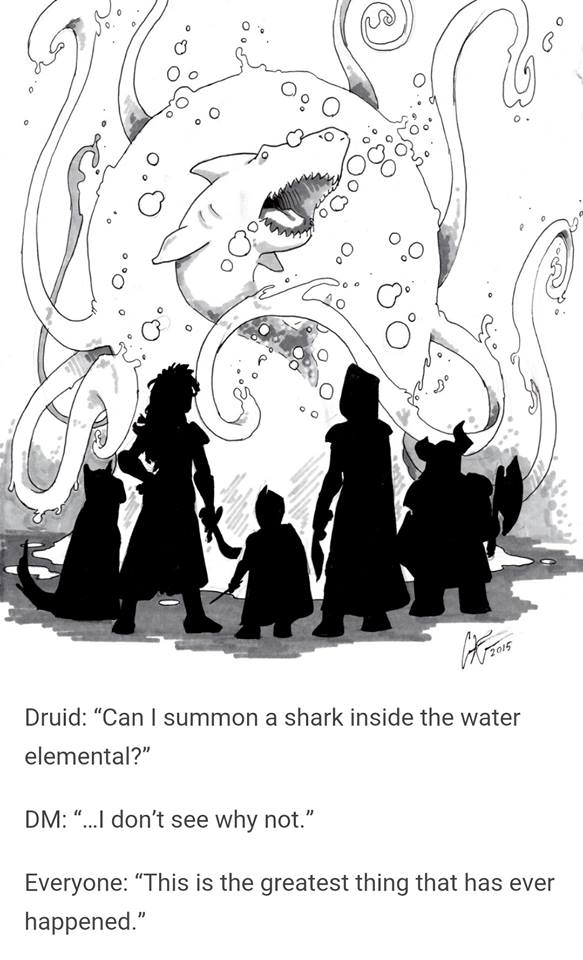 d&d meme shark elemental