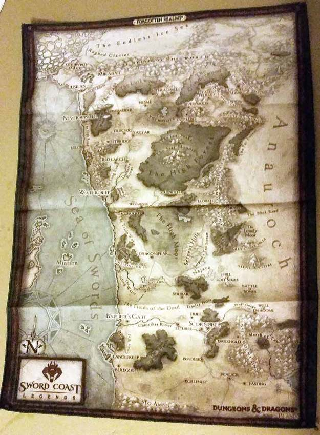 Sword Coast Legends cloth map