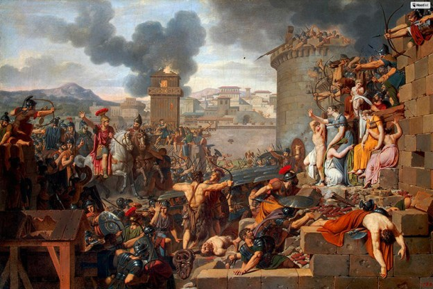 Metellus raising the siege by Armand-Charles Caraffe