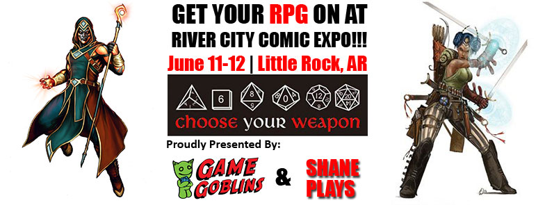 Play RPG games at the River City Comic Expo - Click Here!
