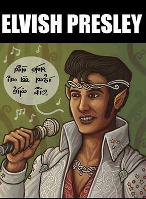 d&d meme elvish presley