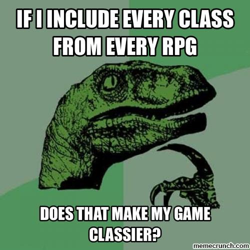 d&d meme every class