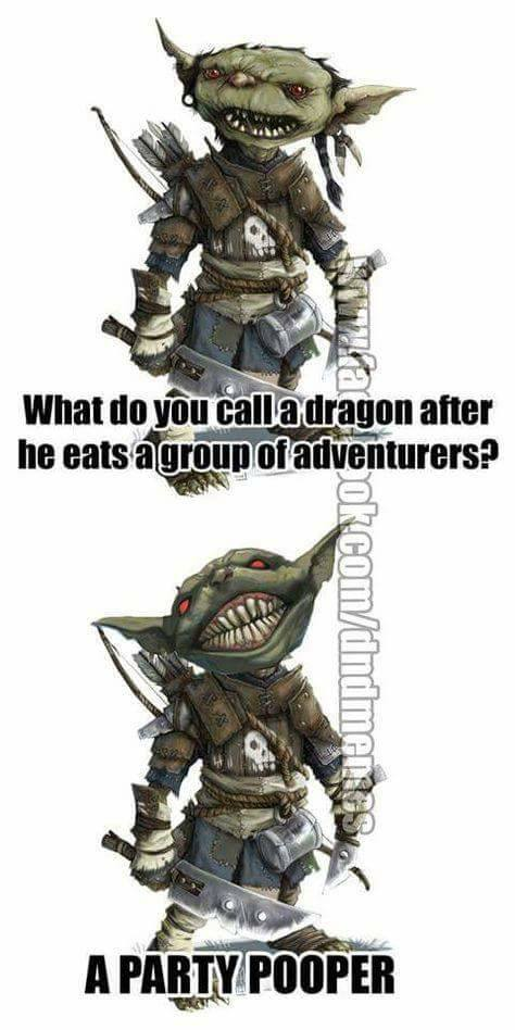 d&d meme party pooper