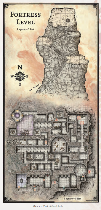 D&D Tales From the Yawning Portal sunless citadel fortress level map