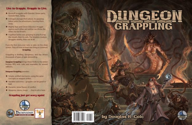 Dungeon Grappling cover full spread