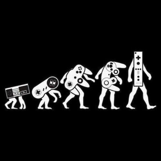 geek meme nintendo controller evolution