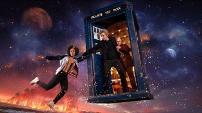 doctor who with companions bill and nardole