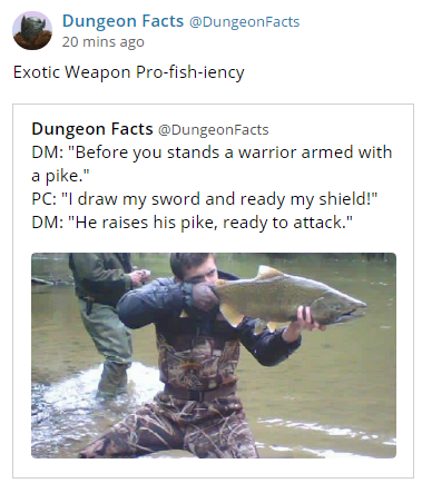 d&d meme exotic weapon pro fish iency