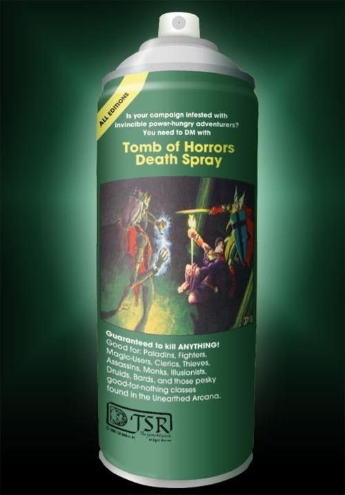 d&d meme tomb of horrors spray