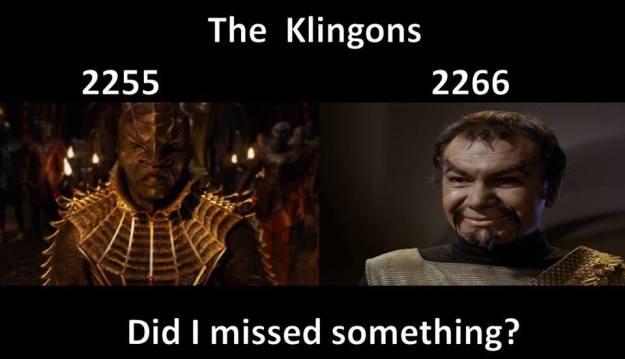 geek meme klingons 2255 vs 2266