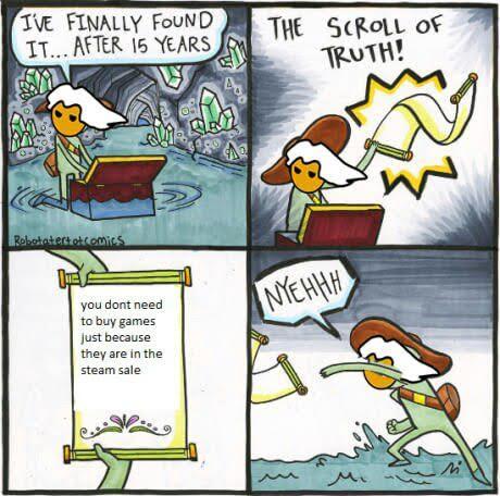geek meme scroll of truth