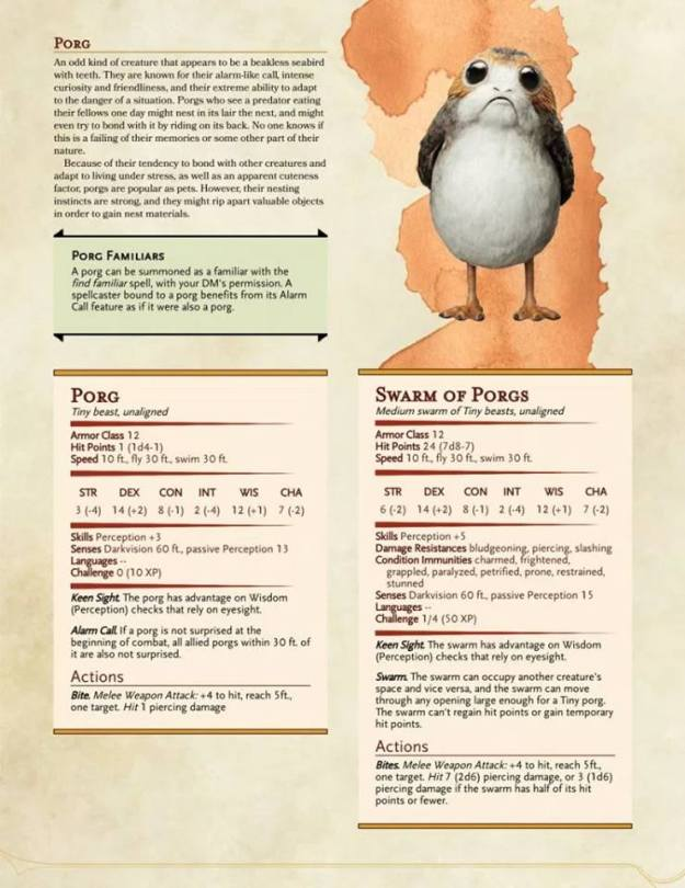 d&d meme porg stats credit mark richardson table top kingdoms