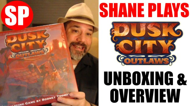 dusk city outlaws rpg unboxing and overview thumbnail