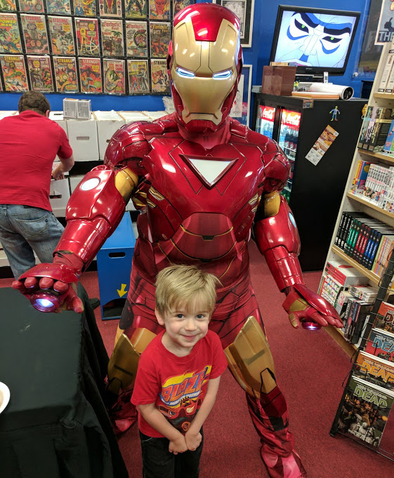happy boy and lennon parker arkansas iron man may 6 2017
