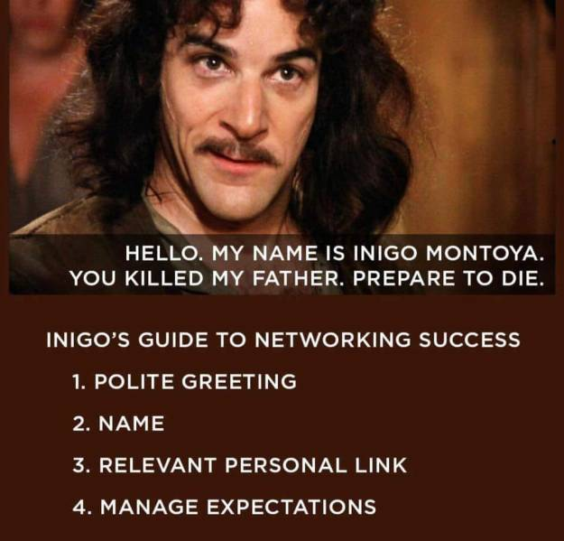 d&d meme indigo guide to networking success