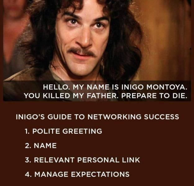 d&d meme indigo guide to networking success