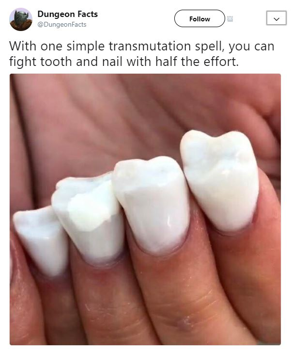 d&d meme transmutation tooth and nail