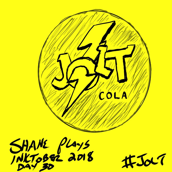 shane plays inktober 2018 ink drawing day 30 jolt