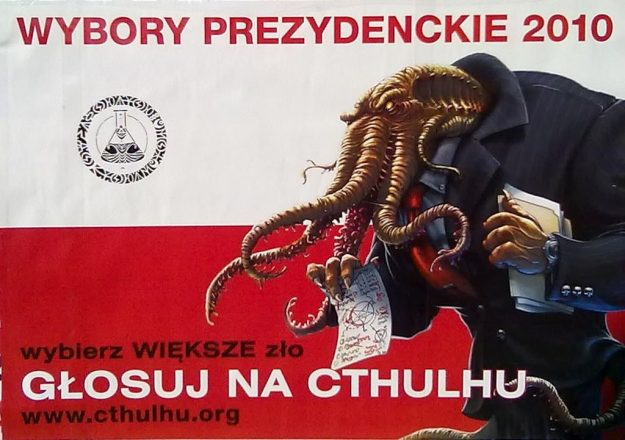 cthulhu poster polish satire 2010 presidental election