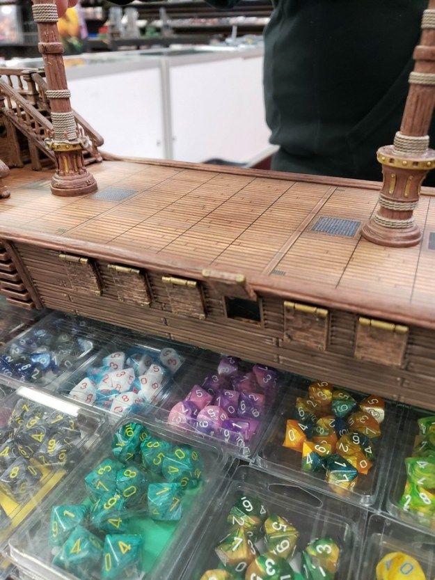 d&d dnd falling star ship mini miniature midsection with open cannon port