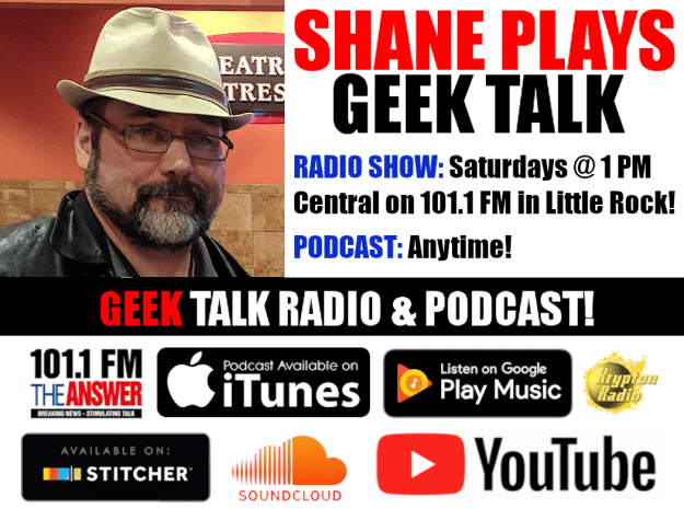 Shane Plays Geek Talk banner with logos up