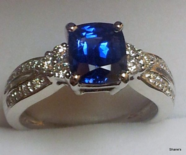 Shane's The Pawn Shop Ladies Diamond Sapphire Ring 2.04CT
