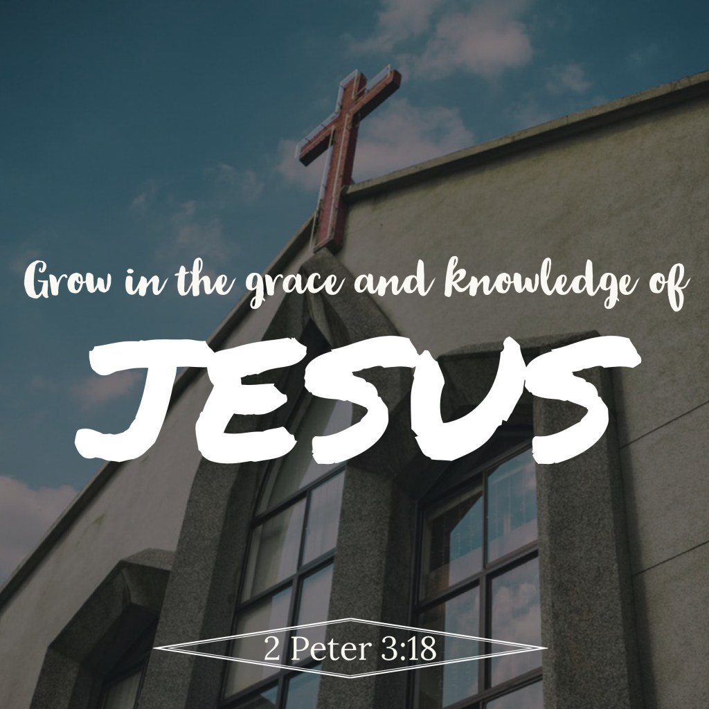 """But grow in the grace and knowledge of our Lord and Savior Jesus Christ. To him be the glory both now and to the day of eternity. Amen,"" (2 Peter 3:18, ESV)."