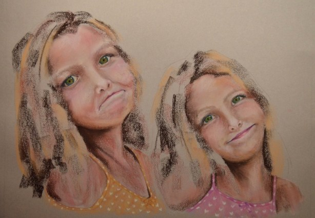 pastel portrait steps
