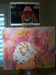 Painting a Clown in Pastel