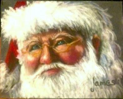 Santa Painting