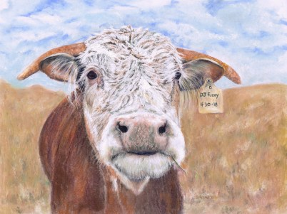 west texas pastel painting