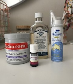 Sudocrem, Gripe water, Sterimar and Reuterina