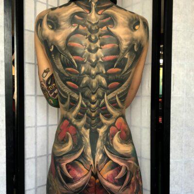 zhuo dan ting tattoo work 卓丹婷纹身作品满背 1