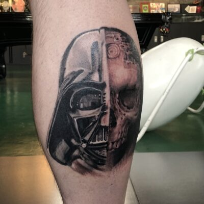 zhuo dan ting tattoo work 卓丹婷纹身作品 star war. 1