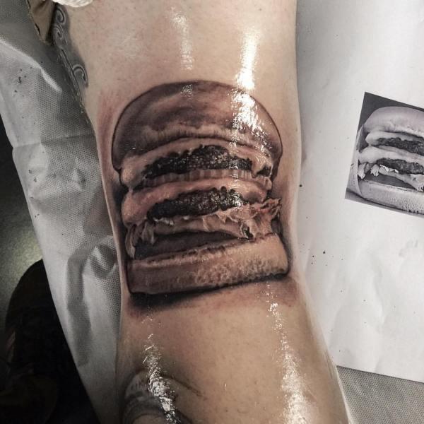 Zhuo-Dan-Ting-Tattoo-work-卓丹婷纹身作品汉堡纹身