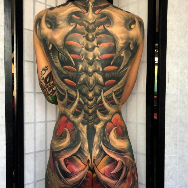 Zhuo-Dan-Ting-Tattoo-work-卓丹婷纹身作品满背