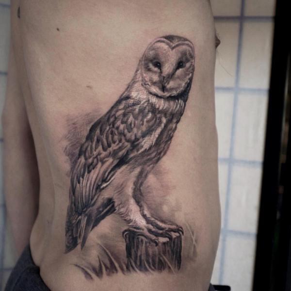 Zhuo-Dan-Ting-Tattoo-work-卓丹婷纹身作品猫头鹰纹身