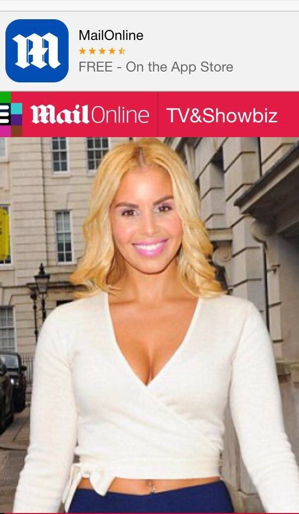 SHANIE FEATURES IN TODAY'S DAILY MAIL..