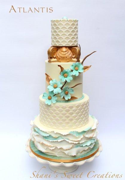 atlantis ocean themed wedding cake - publications