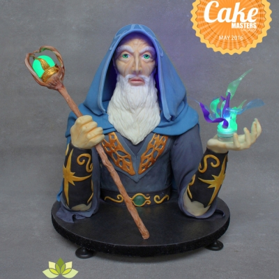 Merlin Wizard Sculpted cake by Shani's Sweet Art