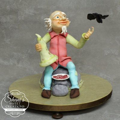 Old man and bat cake - by Shani's Sweet Art