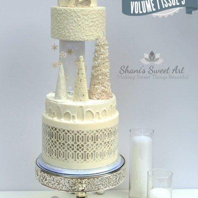 White wedding cake by Shani's Sweet Art