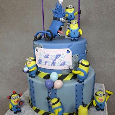 Minion's construction birthday cake