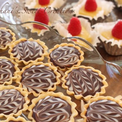 Chocolate and salted caramel tartlets